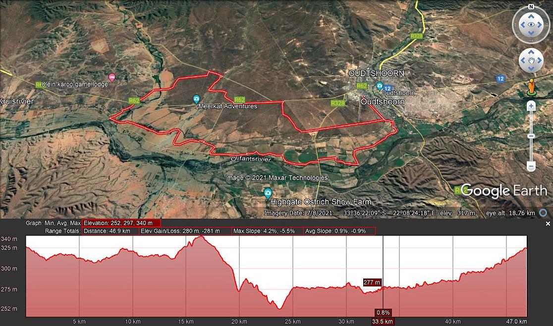 Leopard Crawl 45km Route