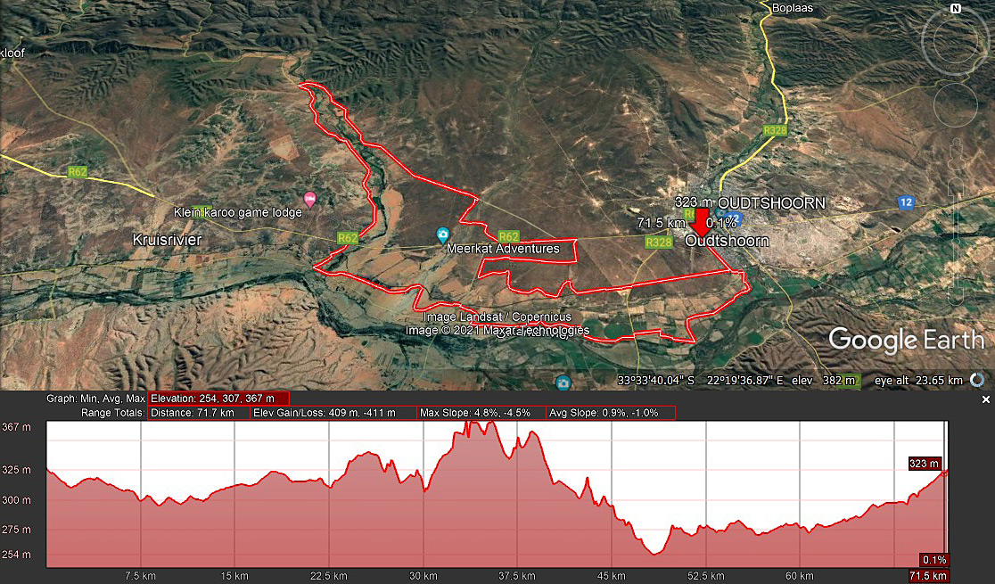 Leopard Crawl 72km Route